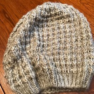 Loose knit hat from express